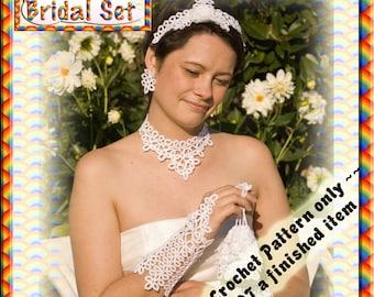 PDF Crochet Tatting Pattern Bridal Set