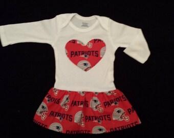 New England Patriots Onesie Dress