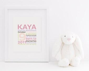 "REMEMBER the day™ Fine Art Print - 8x10"" Custom Memory Announcement - Birth Story - Keepsake"