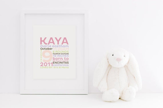 "REMEMBER the day™ Fine Art Print - 8x10"" Custom Memory Announcement - Birth Story - Keepsake"
