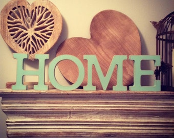 Set of 4 - Hand-painted Freestanding Letters, HOME - Photo Props - 15cm - various colours and finishes