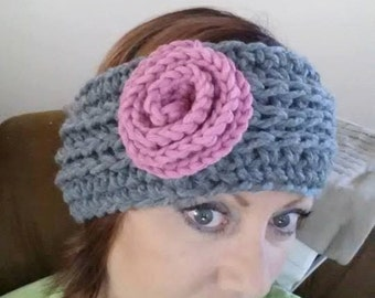 Knit Look Crochet Earwarmer