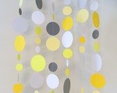 Yellow and Gray Baby Shower Decorations - Gray and Yellow Wedding decor - Birthday garland -Photo Backdrop Paper Curtain- Your color choices