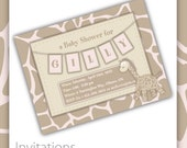 Baby Shower Invitations - Sweet Spots ~ baby shower, printable baby shower invitations, baby shower invites, new born shower invitations
