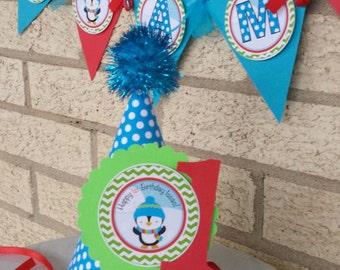 NEW - Penguin Birthday Party Hat