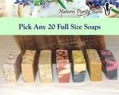 Pick Any 20 soaps for 85 dollars - soap set, gift set, sampler set