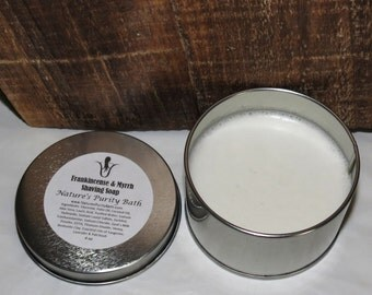 Frankincense and Myrrh Scented Shaving Tin Soap