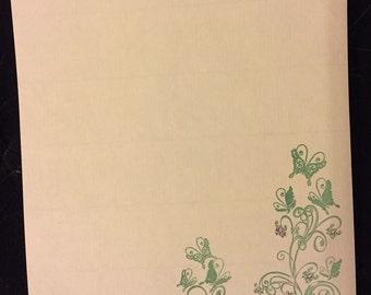 Floral Butterflies Letter/Writing Set