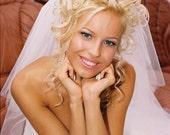 Mona Bridal Veil Two Tiers Elbow Wrist Length