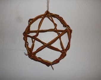 Willow Pentacle no3 - pagan wiccan spirituality druid decoration sacred witchcraft wicca