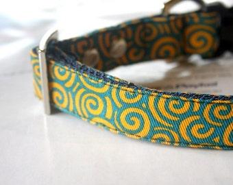 Naruto Dog Collar - Yellow, Turquoise Blue