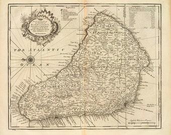 1747 Chart of Barbados