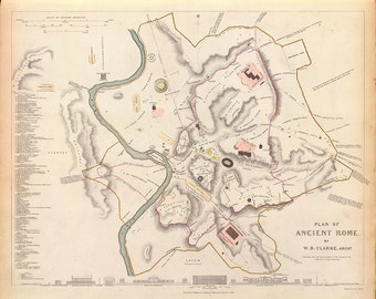 1830 Map of Ancient Rome