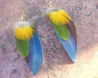 PETITE CUSTOM FEATHER earrings