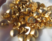 "Gold Buttons Brushed Golden Triangle Dome 5/8"" 16mm-48 pieces"