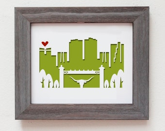 Ft. Worth, Texas.  Personalized Gift or Wedding Gift