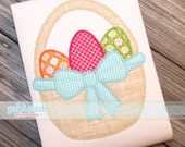 Easter Basket Appliqué Design Machine Embroidery INSTANT DOWNLOAD