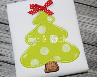 Basic Christmas Tree Applique Design Machine Embroidery INSTANT DOWNLOAD