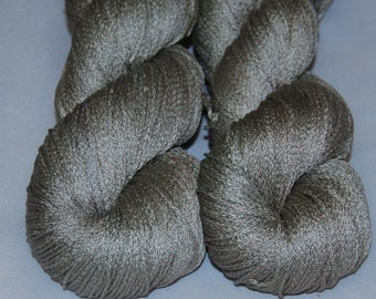 Clay- Mulberry silk 100%  handdyed yarn 100g