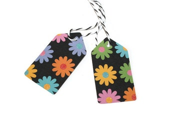 Clearance - Bright flower tags - set of 50 (TCP86)