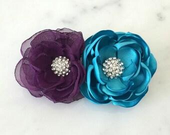 Bridal hair comb Wedding hair comb Flower headpiece Hair accessories Bridal accessories Wedding hair flower Crystal hair comb Flower girl