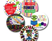 BACK 2 SCHOOL Personalized stickers for Teachers