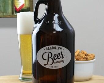 Engraved Beer Growler, personalized, beer growler, beer, brewery, brewing company, barware, drinkware, custom -gfyL768979