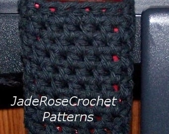 Crochet Cozy Pattern,  Wheelchair Pouch, I-Pod Holder, Wheelchair Open Pouch, Wheelchair Accessory, Stroller Pouch,  PDF1003
