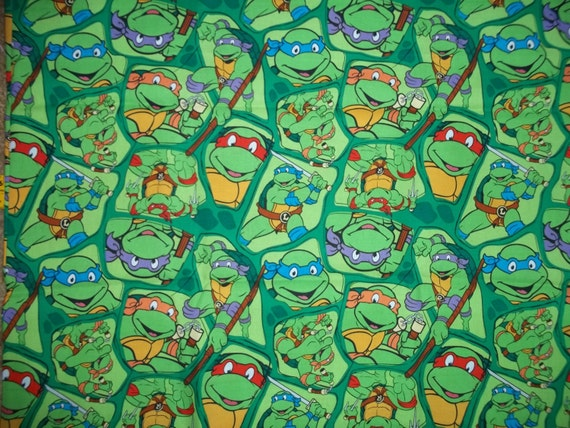 Teenage Muntant Ninja Turtles Cotton Fabric By The Yard