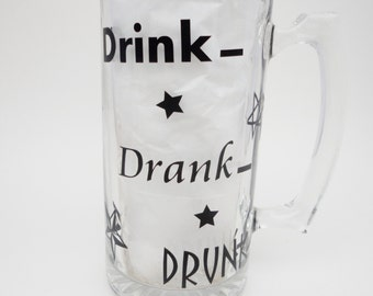 Beer Mugs With Vinyl, Stars, Gifts For Men, Gifts For Adults, Glassware With Vinyl, Beer Mugs, Drink Mugs,21st Birthday gifts