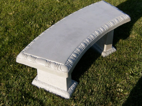 Items Similar To Concrete Scallop Curved Bench With