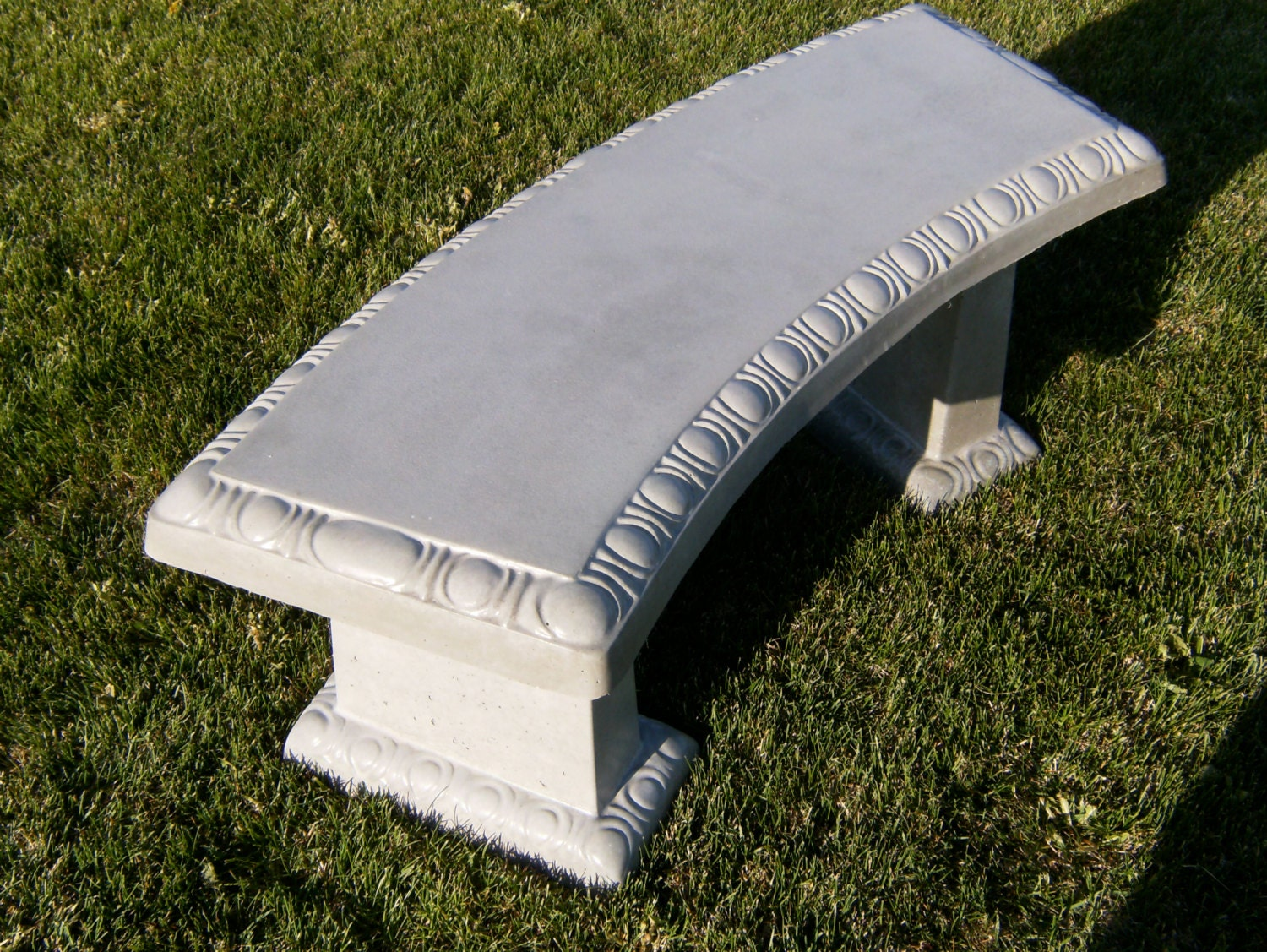 Concrete Scallop Curved Bench With Matching By