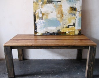 Beautiful Minimal Reclaimed Wood Table. made in Los Angeles.