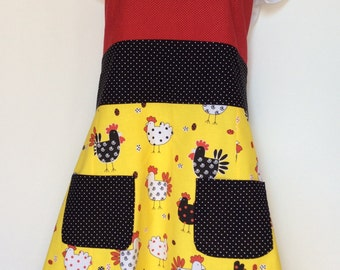 Ladies full colorful hip chick apron
