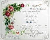 VOW RENEWAL CERTIFICATE Marriage Certificate Printable Download Digital Collage Sheet Personalized Custom