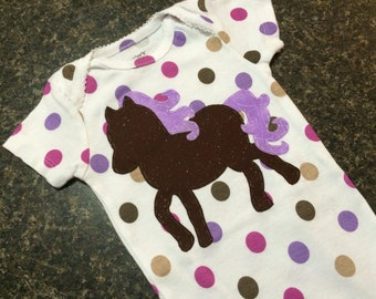 Pretty Horse Baby Onesie (ONE OF A KIND)