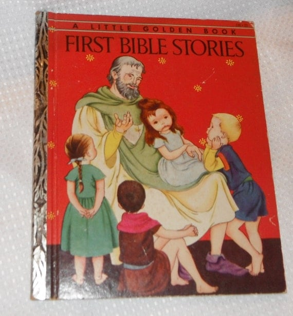 Little Golden Book BIBLE STORIES FOR BOYS and GIRLS 1953 1ST EDITION