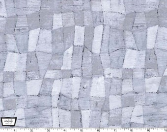 SALE - Edges Tonal Mosaic Platinum Gray by Laura Gunn from Michael Miller