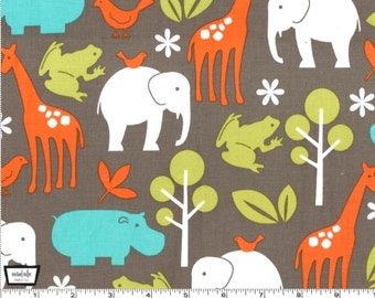 SALE - Zoology - Animals Brown from Michael Miller