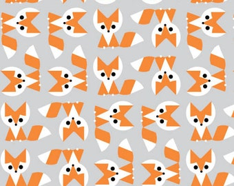 Picture Pie - Fox Organic Cotton Fabric by Ed Emberley from Cloud9