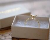 Ring bird 14k gold