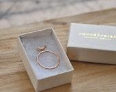 Ring bird 14k rose gold
