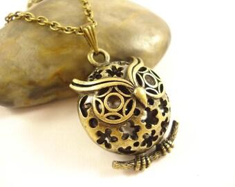 3D Filigree Owl Necklace NC-441