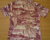 Mens Vintage 70's Kennington Photo Print Style Hawaiian Shirt - M -  The Hana Shirt Co