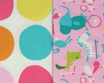 PLAY DATE printed cotton combi in pink