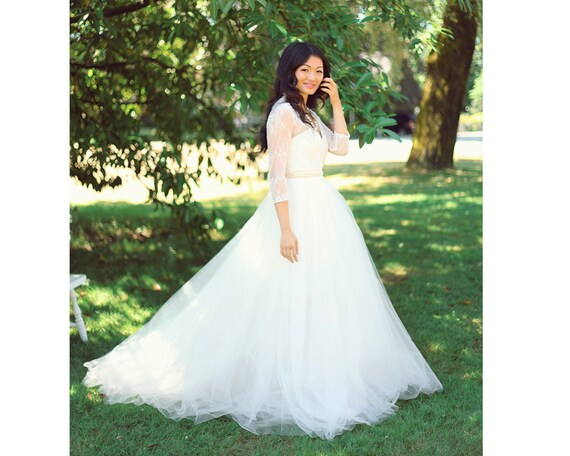 Tulle Wedding Skirt, Tulle Ballgown, Removable Tulle Ballgown, Ballgown Skirt