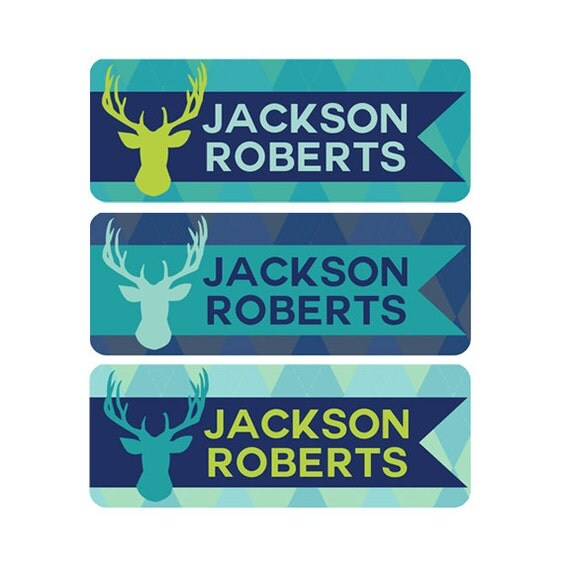 Boys Premium Name Labels: FAST SHIPPING! Boy Daycare Name Labels, Waterproof Daycare