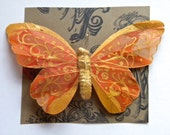 CLEARANCE SALE-50% OFF-Bronze & Metallic Gold Feather Butterfly Hair Clip