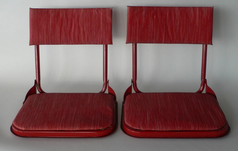 Metal Stadium Seats : Vintage stadium seats bleacher backs fishing by