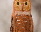 Hand Carved Owl, Folk Art, Rustic Decor, Wildlife Art, Bird Art, Handmade in Ohio, Owl Collectible, Owl Lover, Great Horned Owl